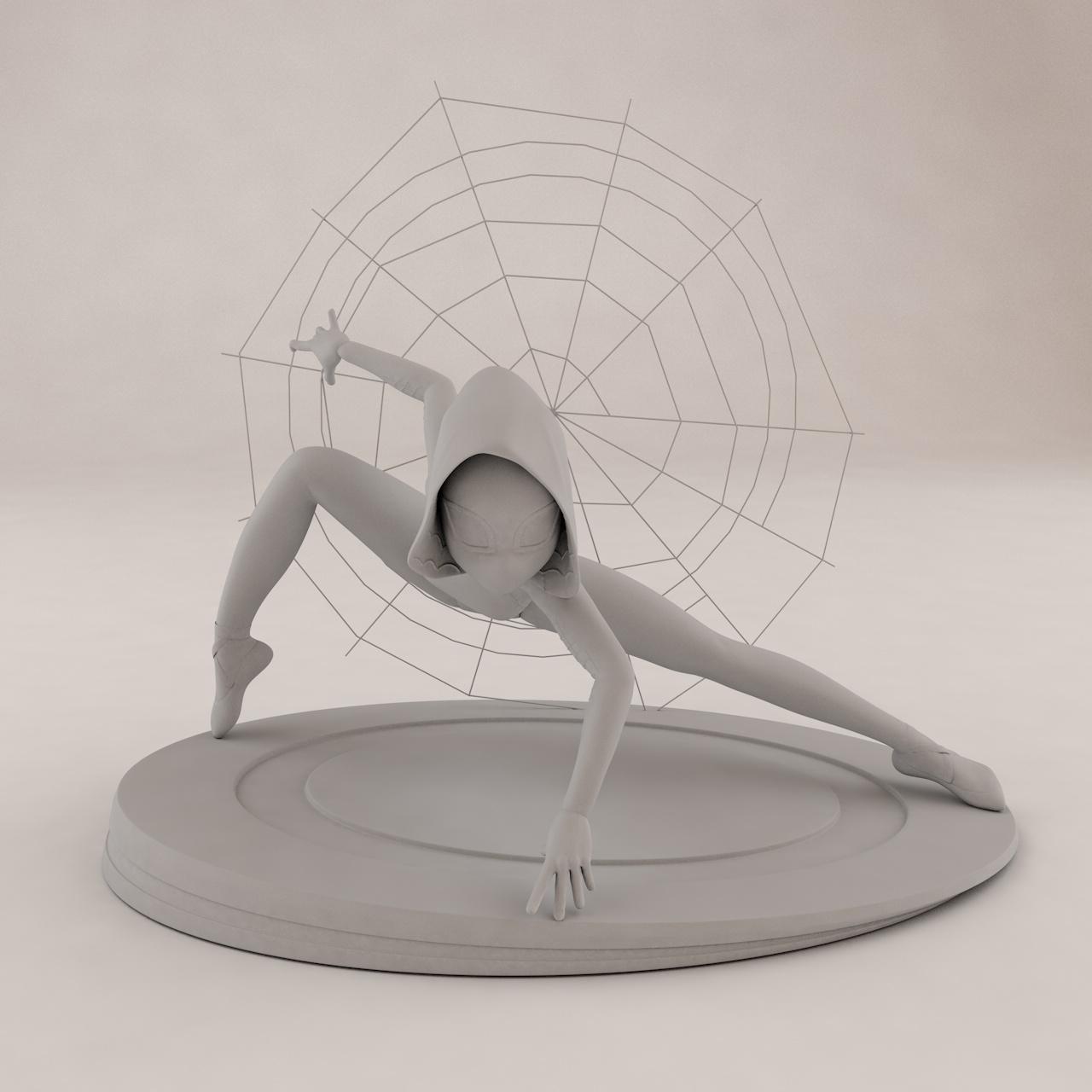 蜘蛛女格温·斯泰西3D打印模型