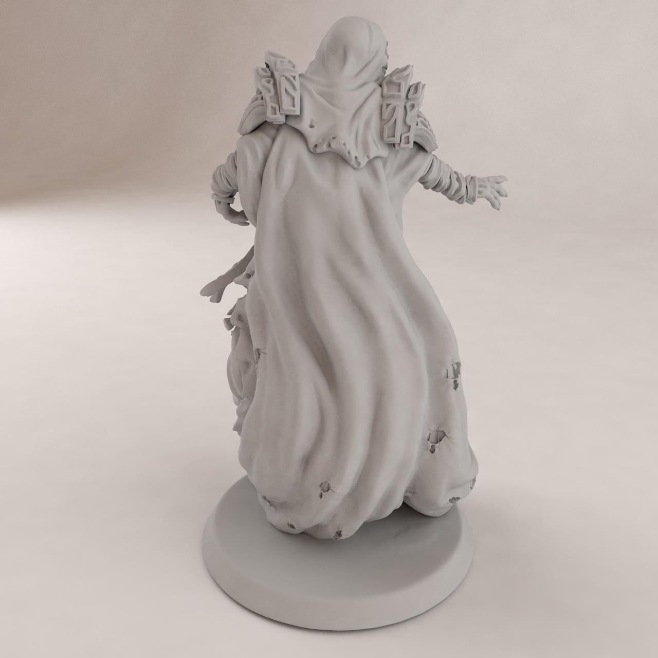 Modèle d'impression 3D Undead Sorceress