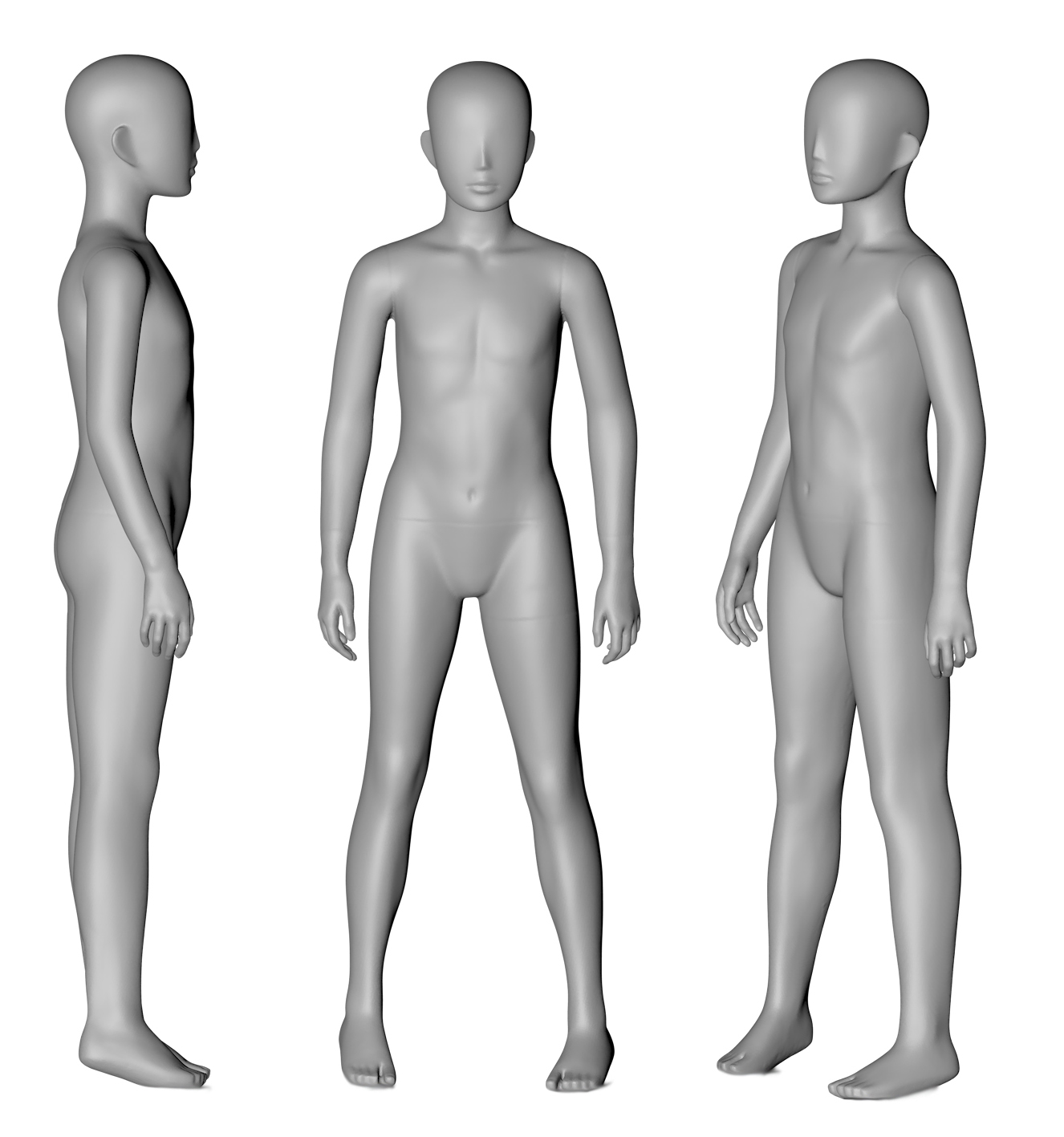 10 Years Old Children Mannequin 3d printing model