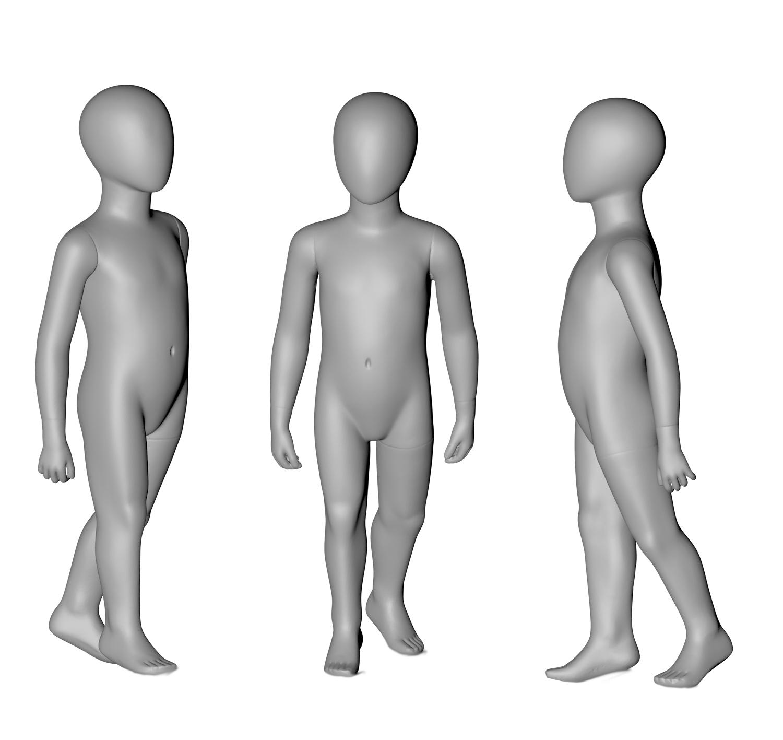 4岁儿童模特3D打印模型