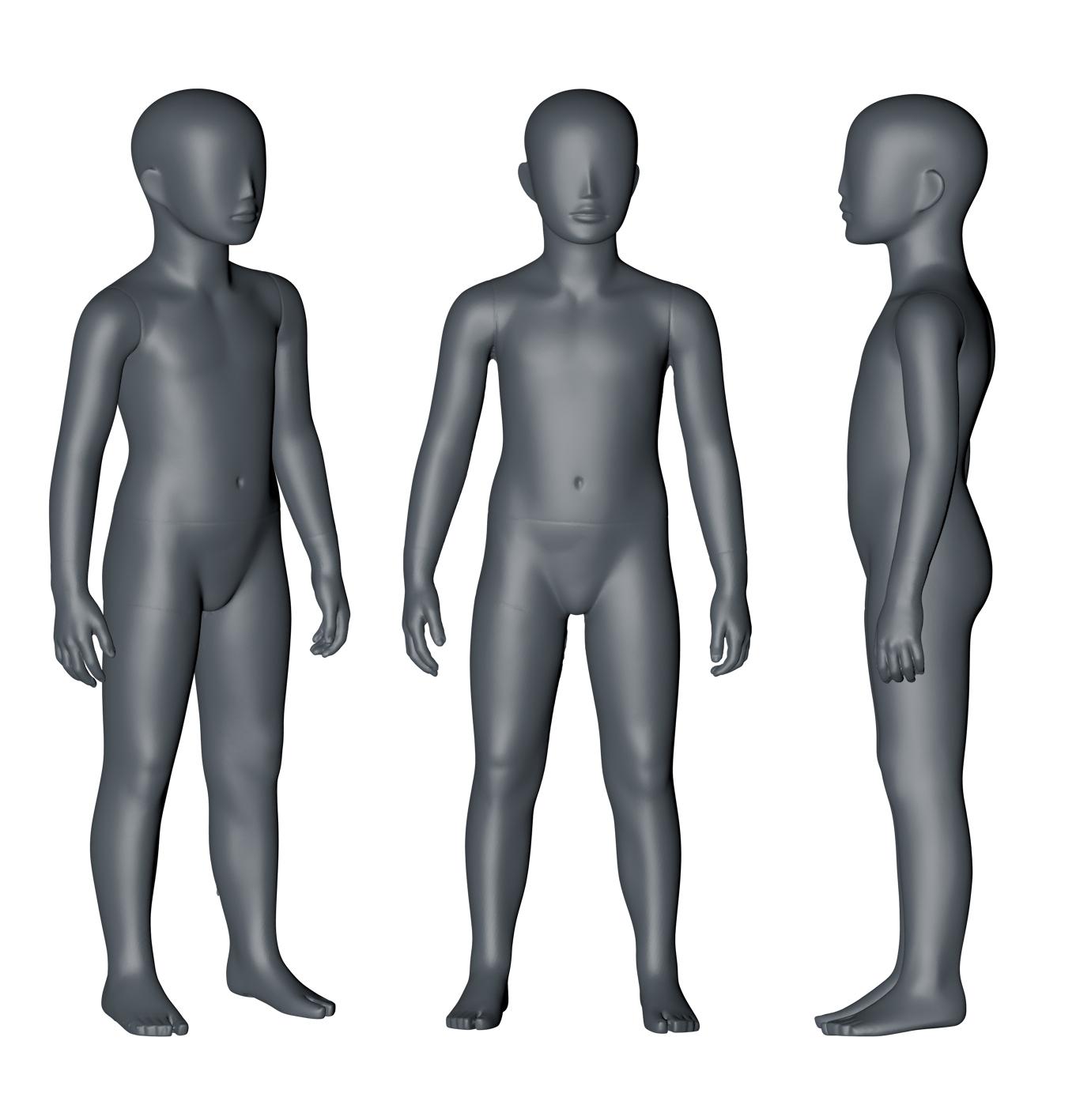 5岁儿童模特3D打印模型