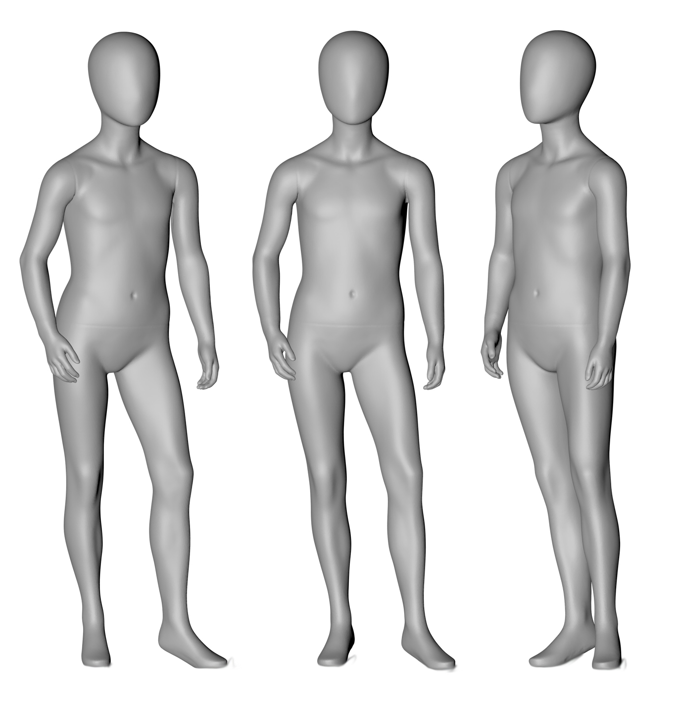 9-year Children Mannequin 3d printing model - 1