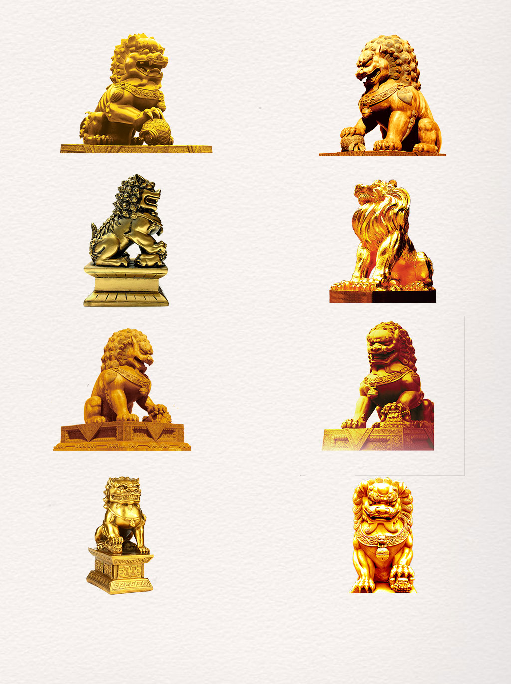 Chinese Stone Lion png (8 files)