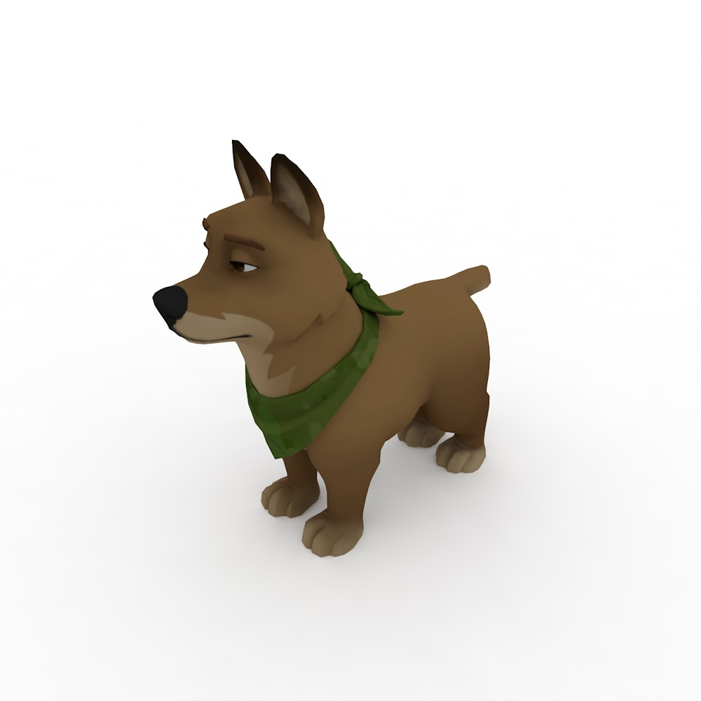 Pet Dog in the Fortnite Game 3d model