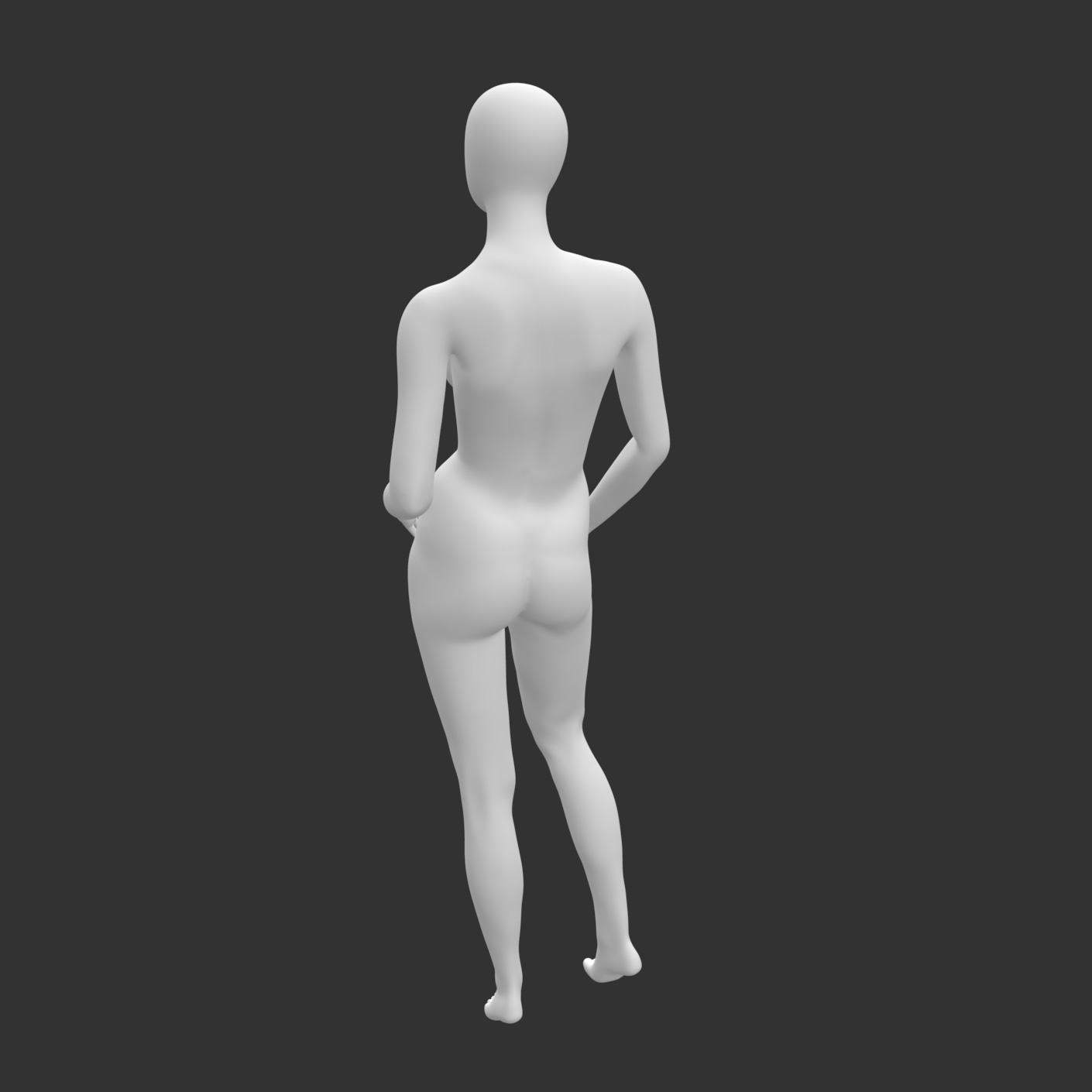 Leisure Female Mannequin 3d printing model of no face and muscle - 3