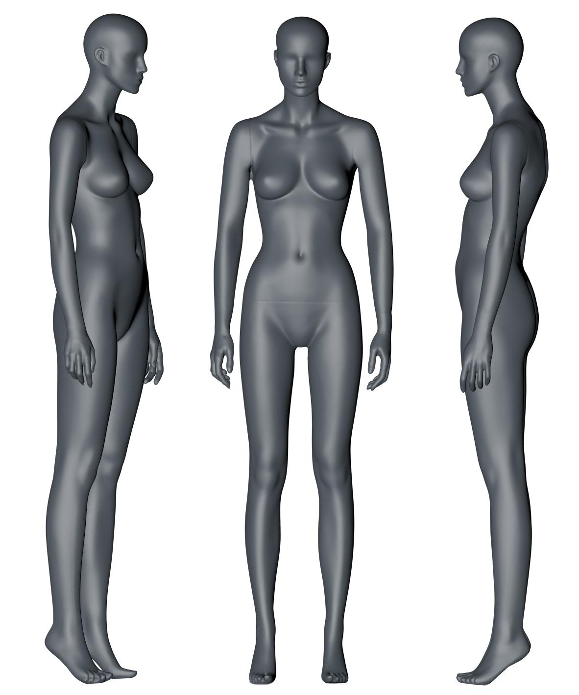 Female mannequin 3d printing model - 1