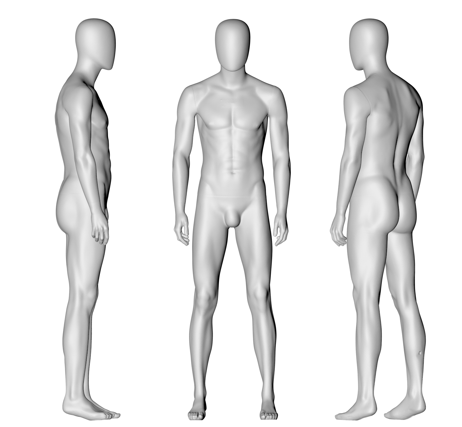 Male Mannequin (11) 3d printing model - 1