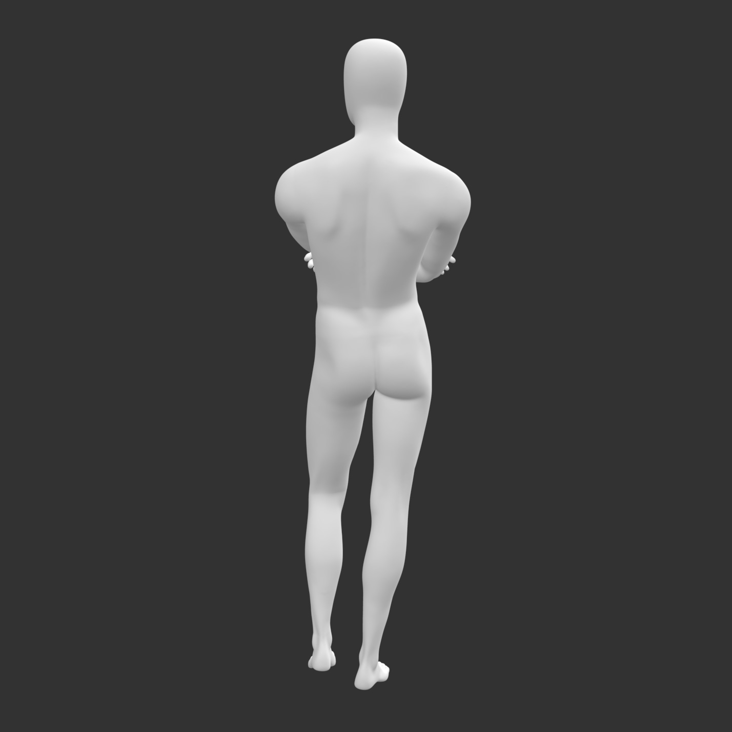 Male Mannequin sports muscle hands fork 3d print model