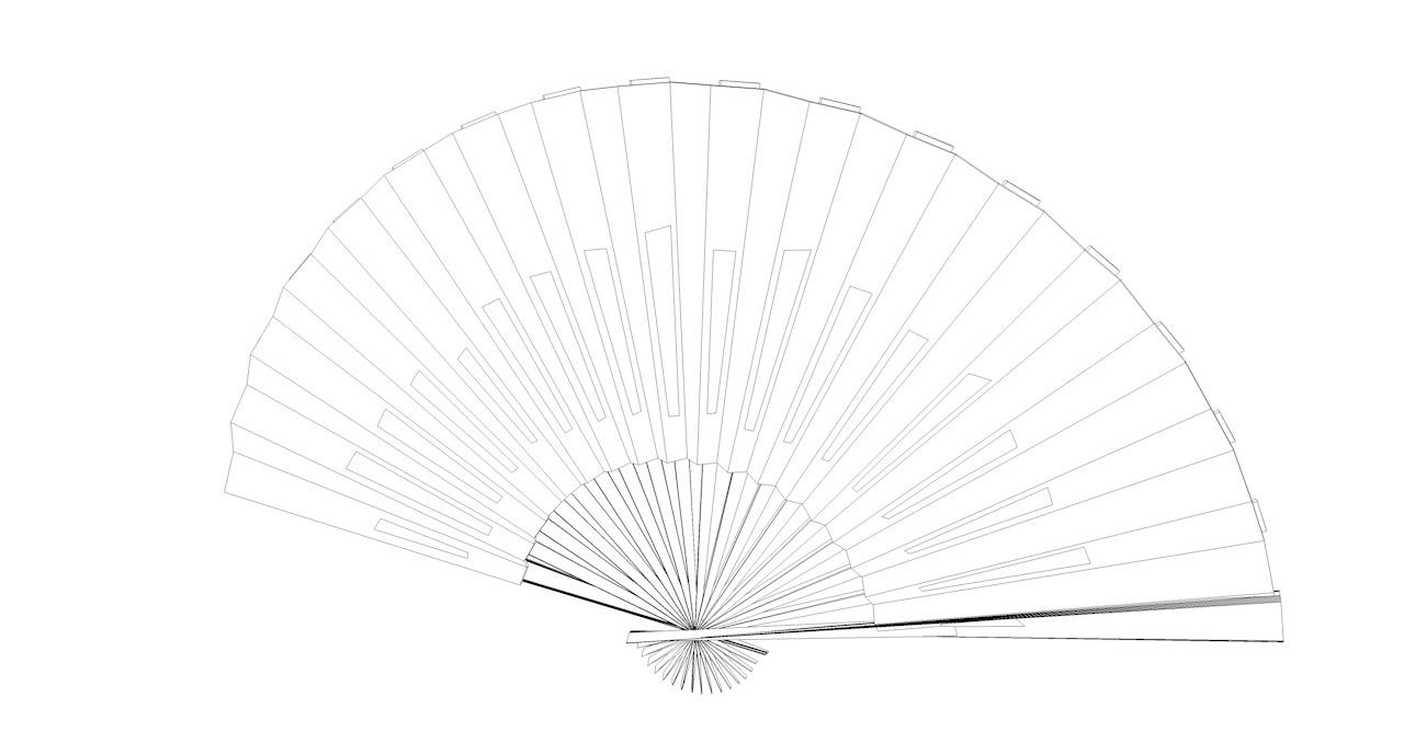 Paper Folding Fan 3d model