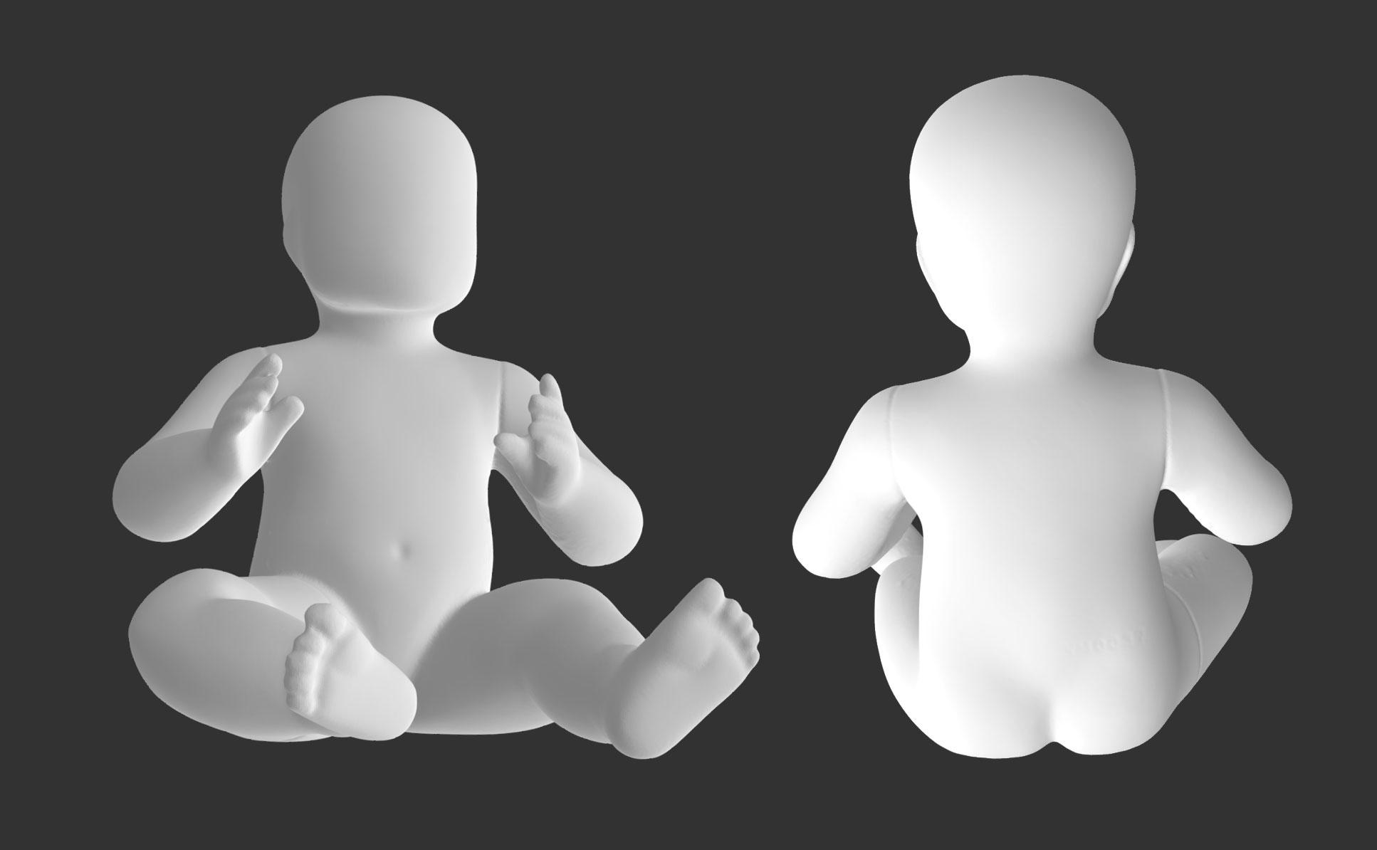 Sitting Baby 3d printing model