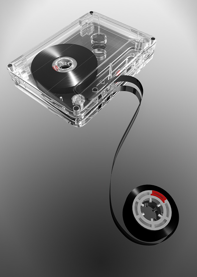 Tape of Recorder Cassette tape 3D model