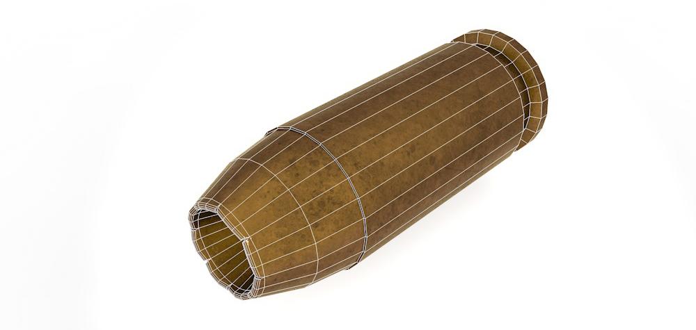 Used Bullet Shell 3D model