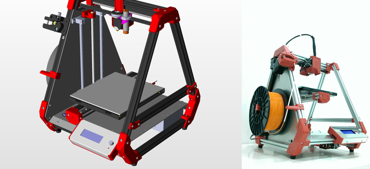 CNC LED work light industrial design 3D model