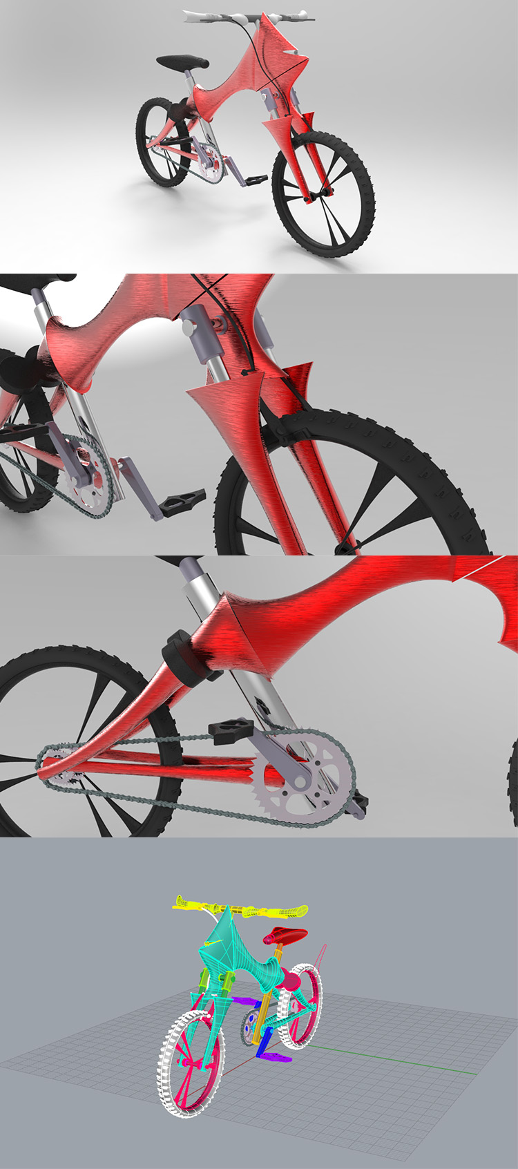 Bull Sports Bike Industry Design 3D Model
