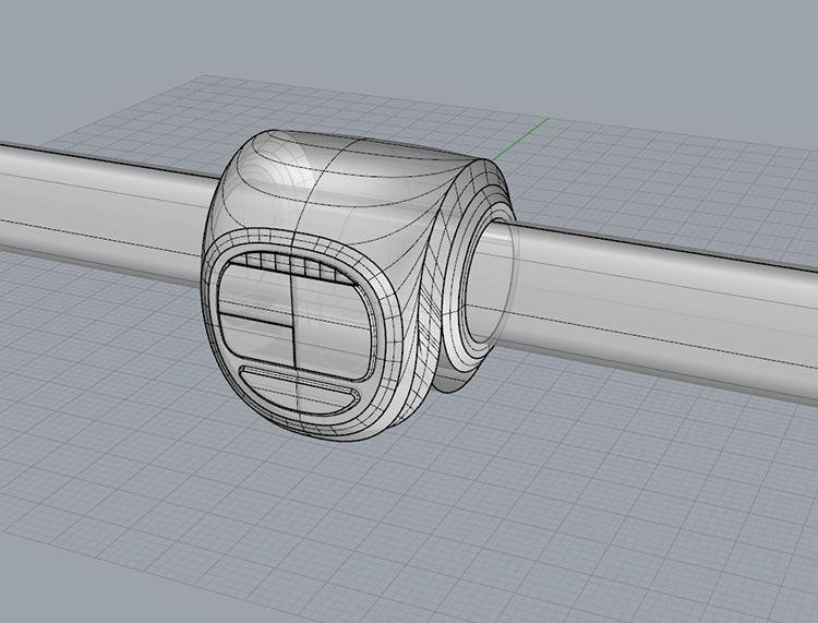 Convenient sports instrument bicycle sports recorder 3D model industrial  design