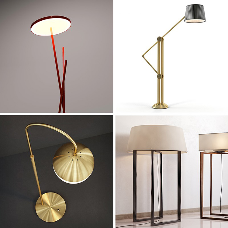 8 modern floor lamp 3D models