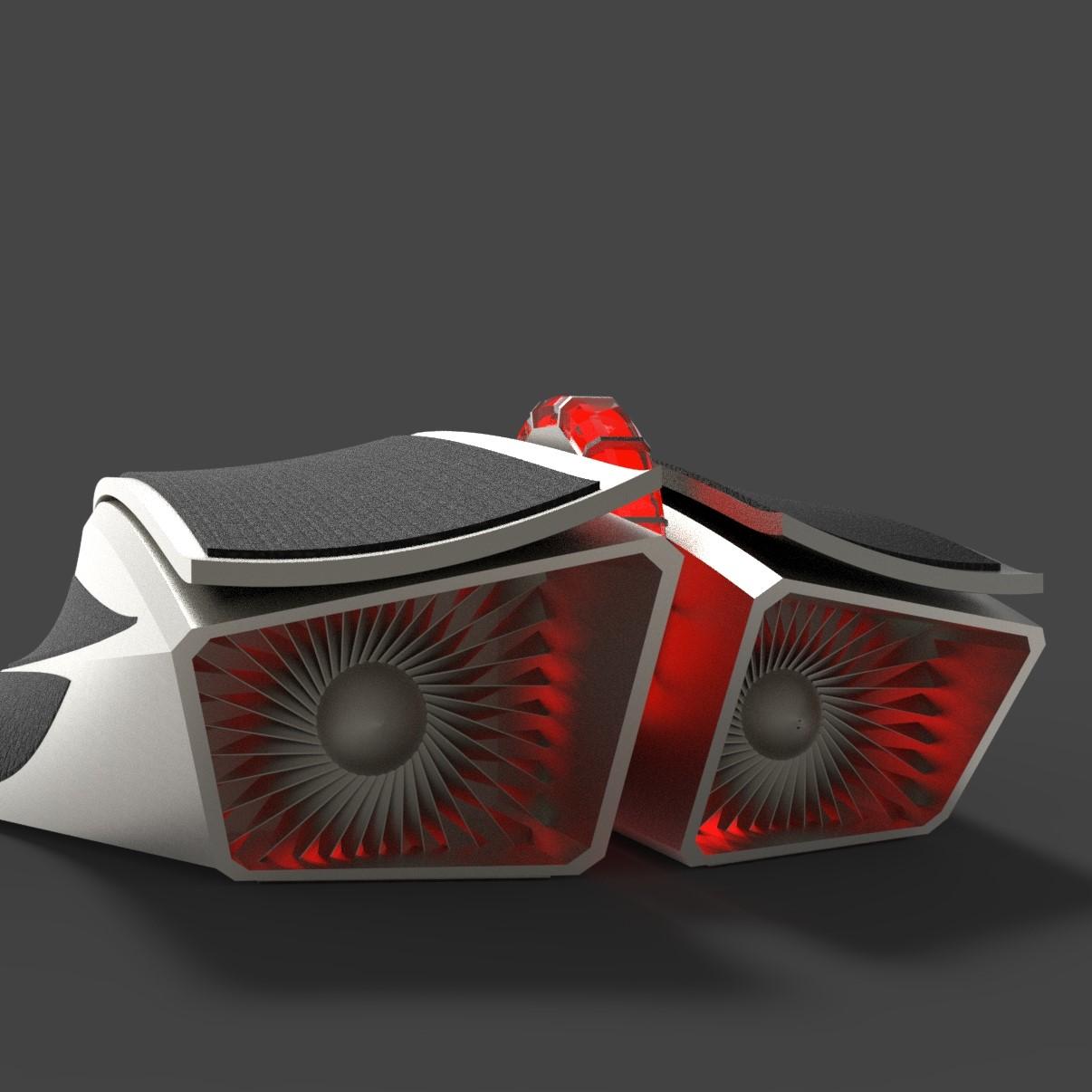 Game mouse industrial design 3d model of jet engine element