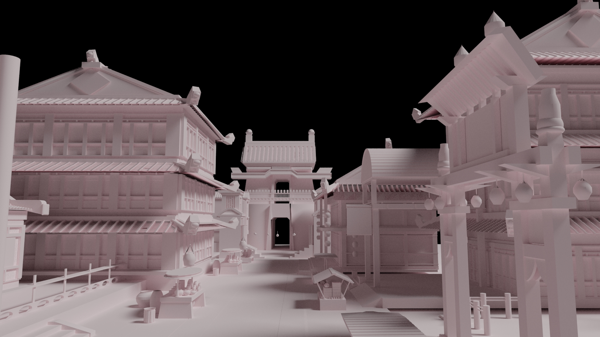 Chinese ancient style architectural 3D model
