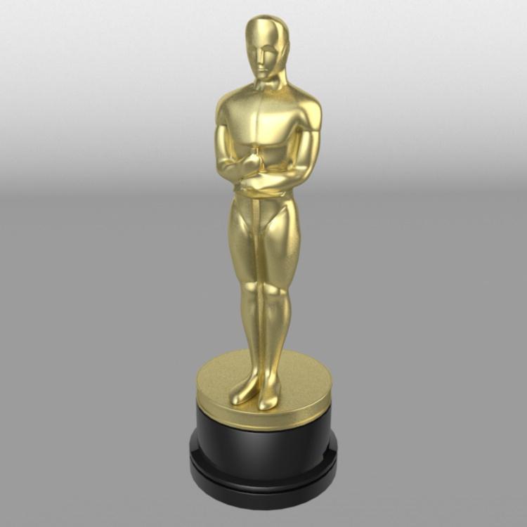 Oscar Statuettes 3D model