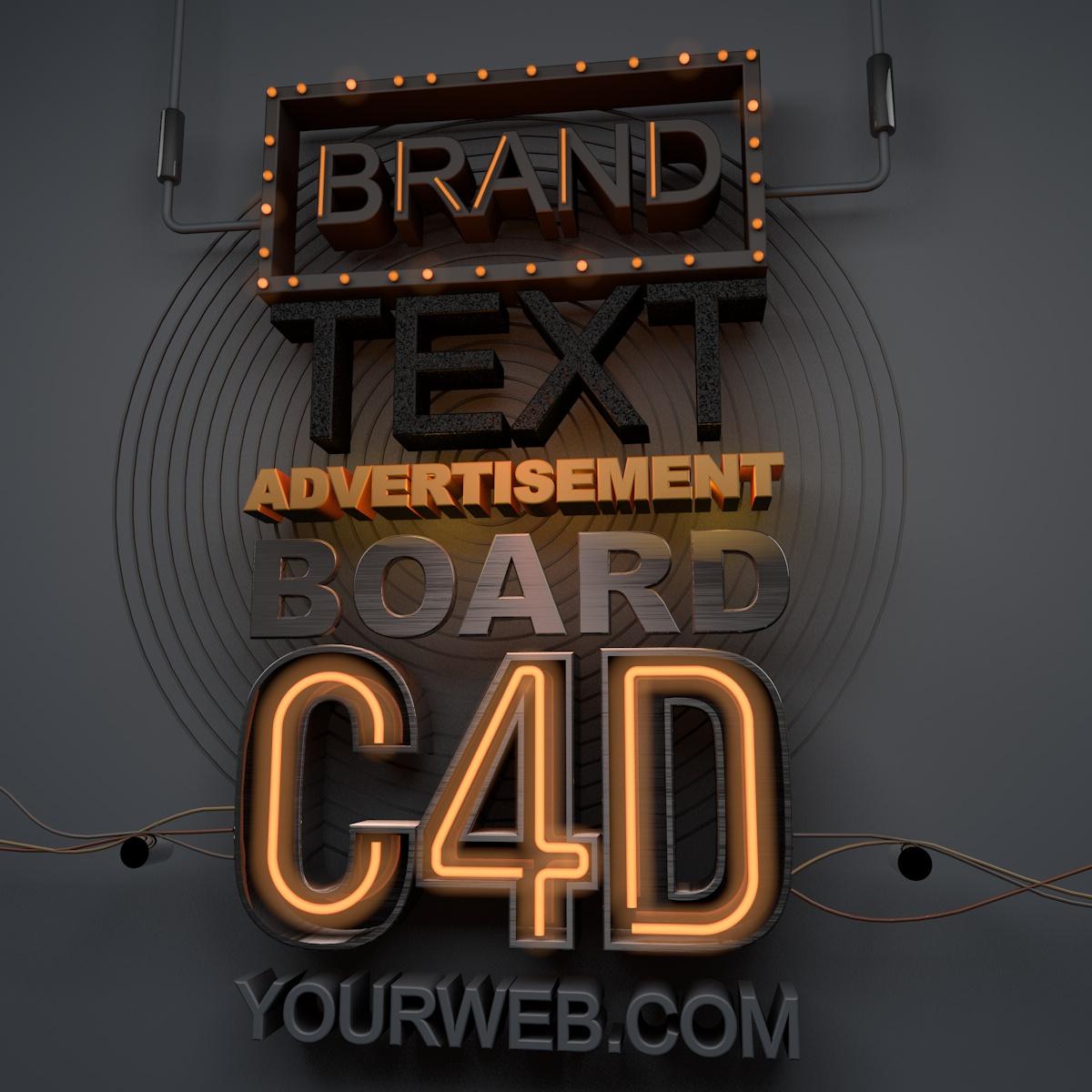 Ad Text Board c4d