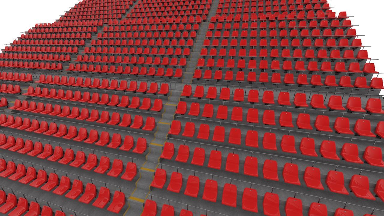 Stadium Seats 3d model stadium auditorium bleachers
