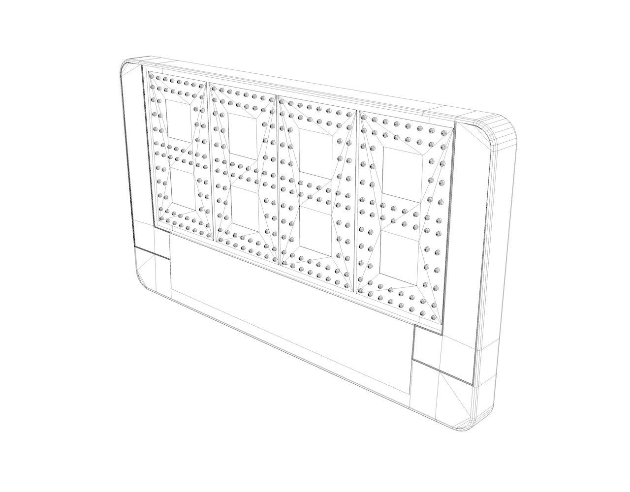 Substitution Board 3d model time-remaining soccer match LED-light