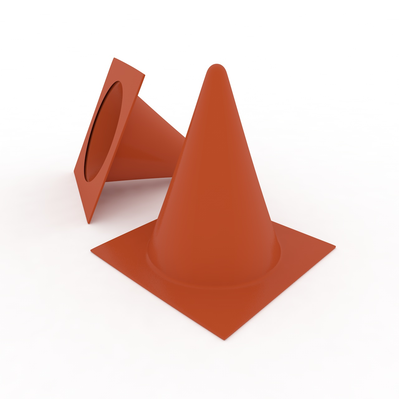 Training Cones 3d model obstacle football practices