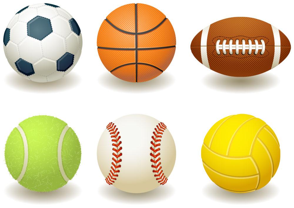 6逼真球类运动AI矢量图形