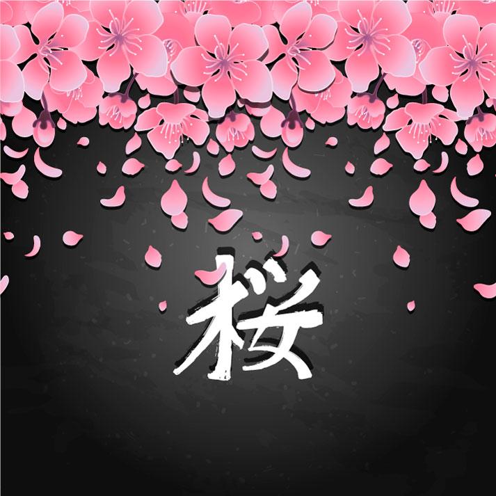 Fond de fleurs de cerisier de style japonais 33