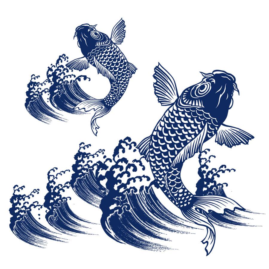 ثقافة اللوحة التقليدية اليابانية كوي الكارب