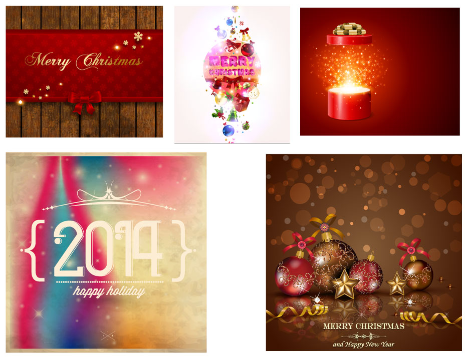 Christmas Newyear Holiday Graphic Elements AI Vector