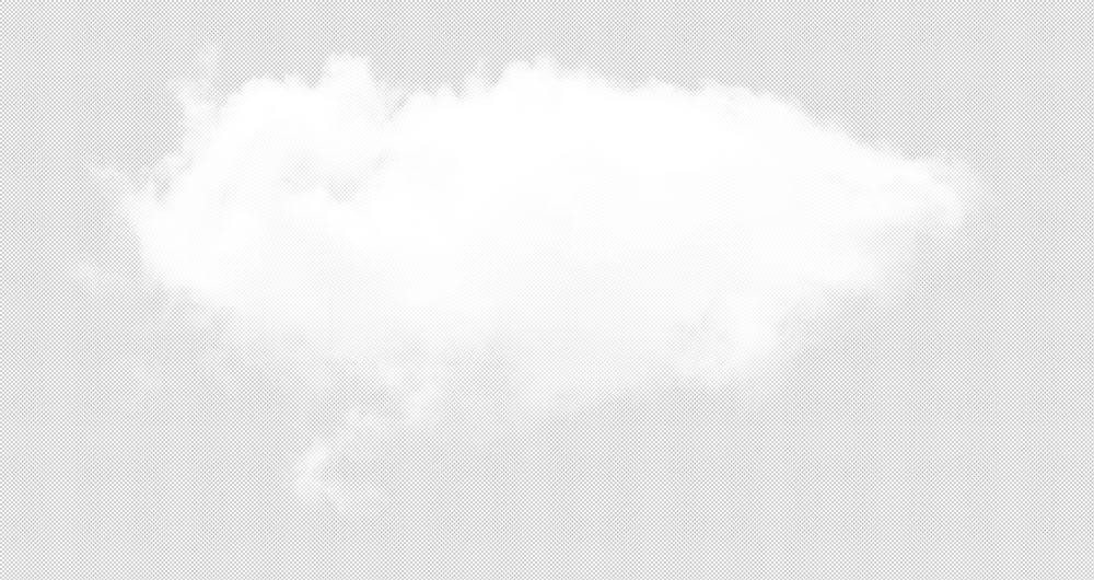 Fond transparent de nuage n ° 25