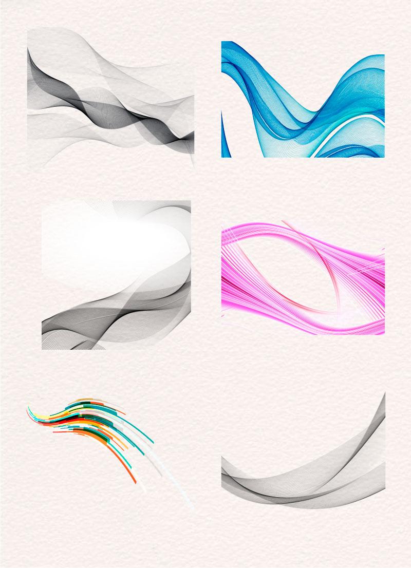 多彩的弯曲图形设计AI矢量