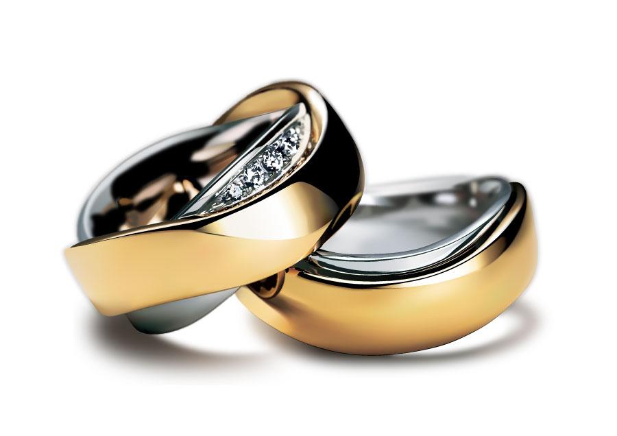 Кольца с бриллиантами Фотореалистичные Графический дизайн AI Vector