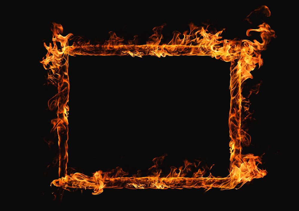 картинки огненных рамок грамотно