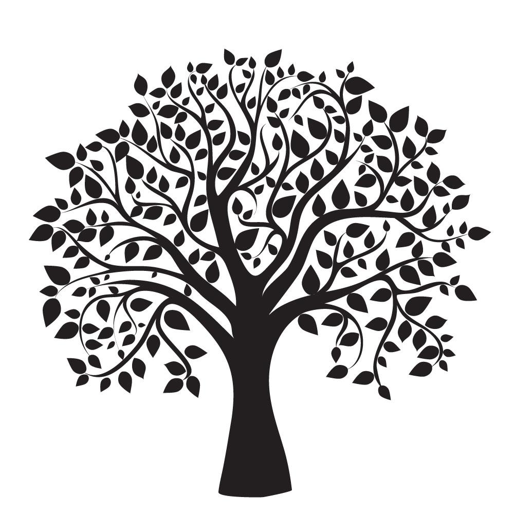 Hand Drawing Tree Design AI Vector