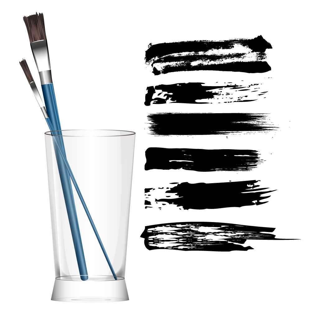 Paint Brush AI Vector