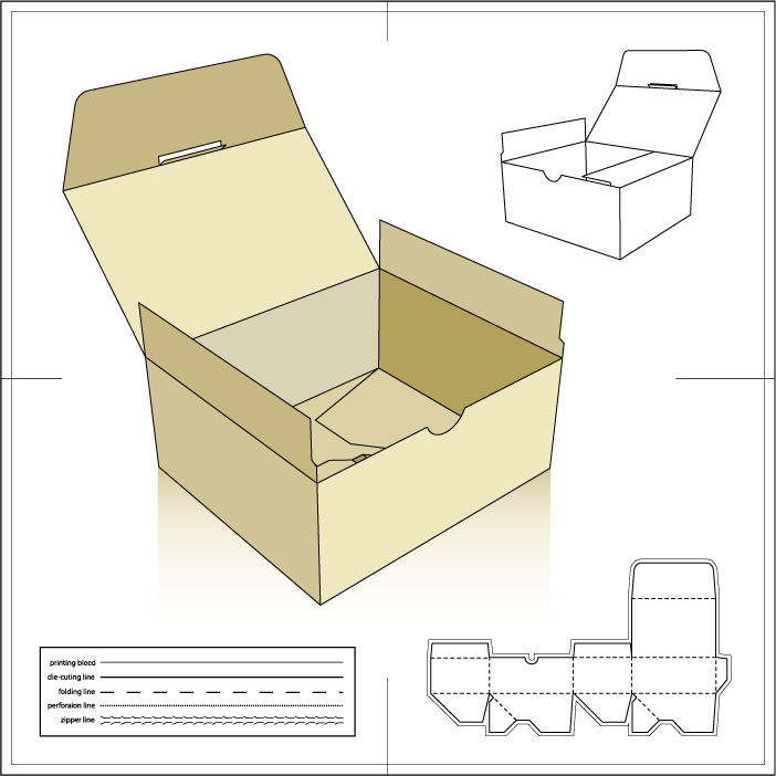 Paper Package5 AI Vector