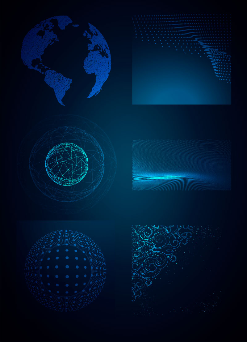 Научный Dot Line Графический Фон 1 AI Вектор