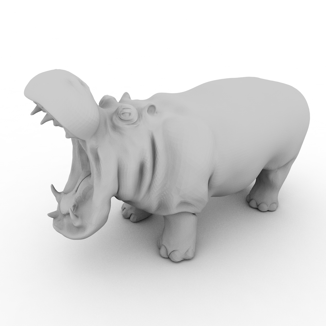 Hippo big mouth 3d printing model