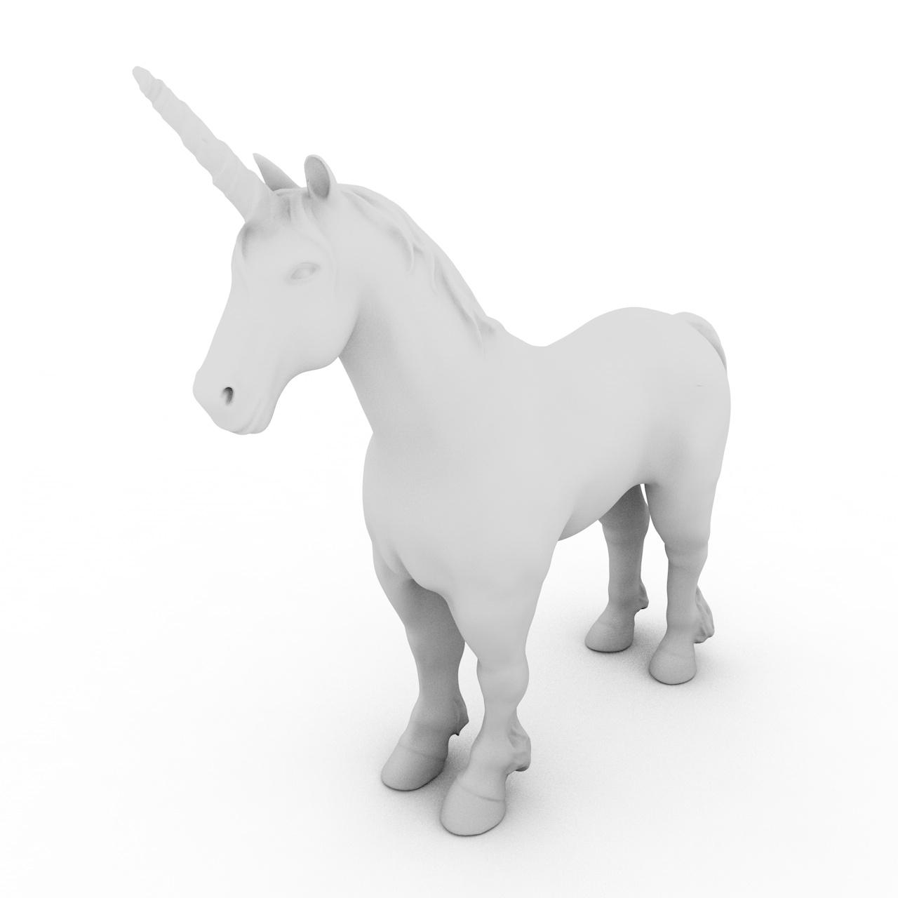 Unicorn 3d printing model