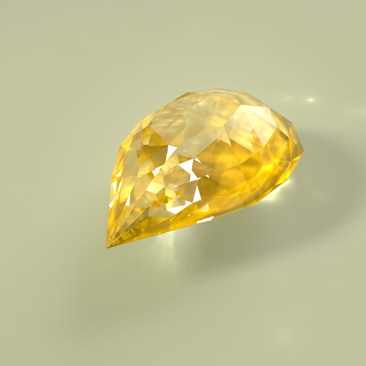 Yellow Diamond Topaz 3D model
