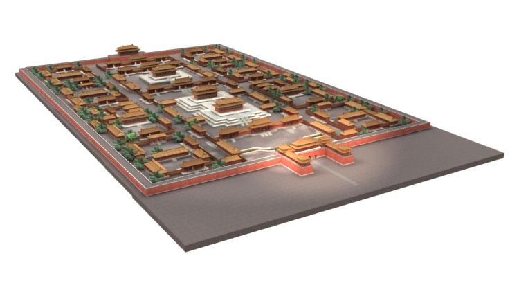 the Forbidden City 3d Model