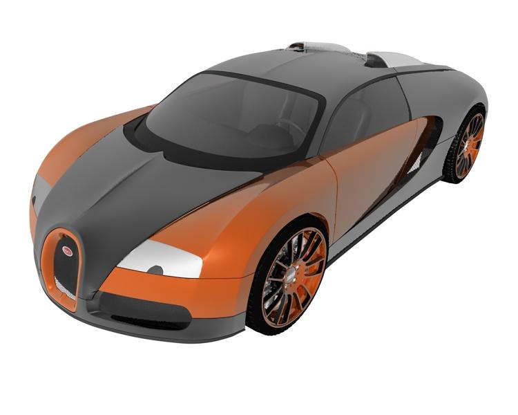 bugatti veyron sports car 3d model. Black Bedroom Furniture Sets. Home Design Ideas