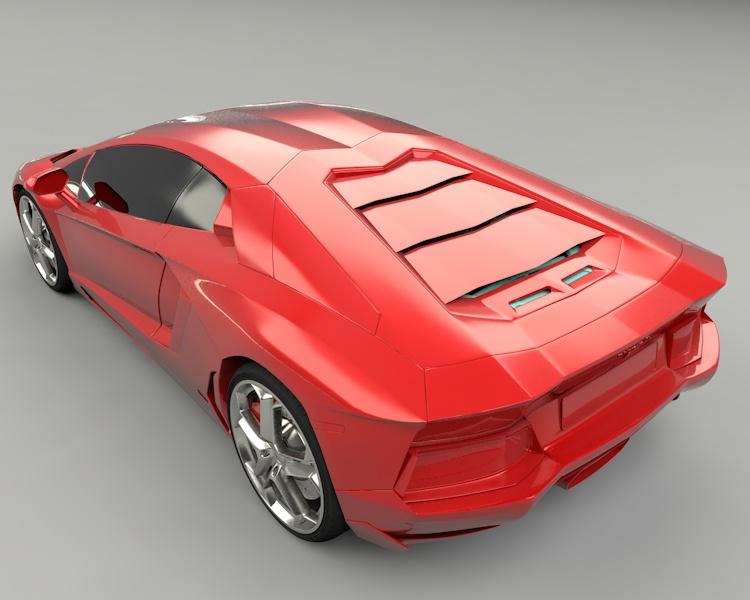 lamborghini aventador coupe Sports Car 3D Model