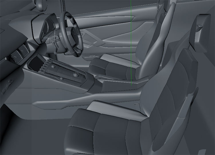 lamborghini aventador coupe Sports Car 3D Model deailed