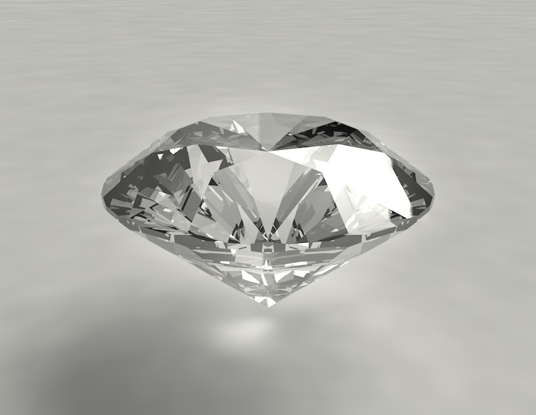Classic Round Brilliant Diamonds Jewelry Jewel Gem 3d Model Material