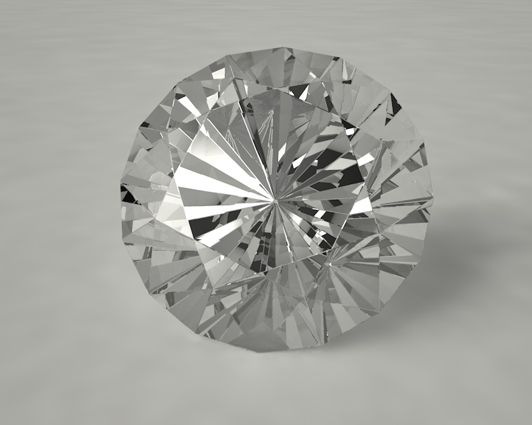 Round Brilliant Cut Diamond Jewelry 3d Model