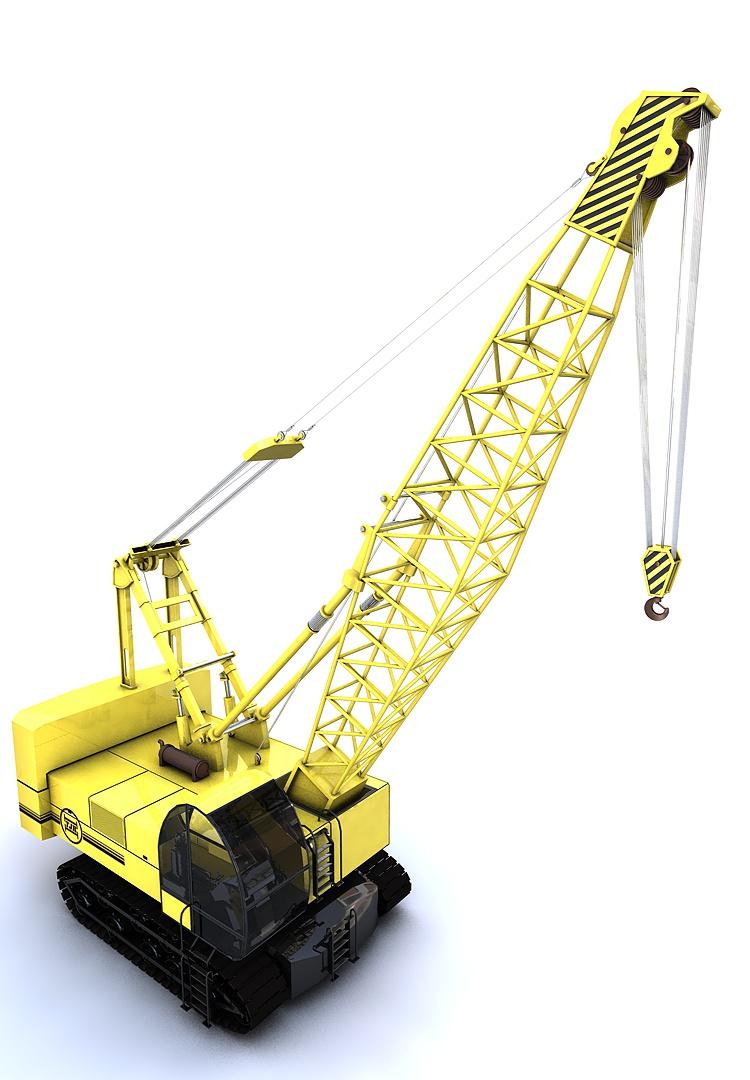 Construction crawler crane 3d model for Construction 3d