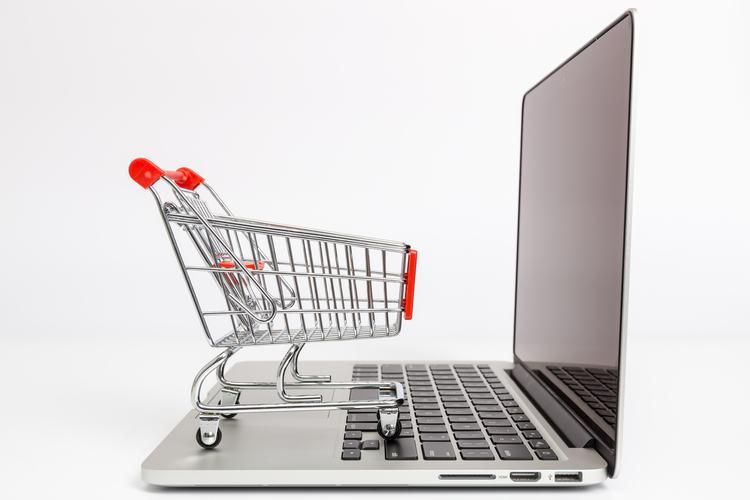 Online Trading Laptop Shopping Cart
